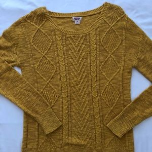 🌻 Women's Mustard Knitted Sweater